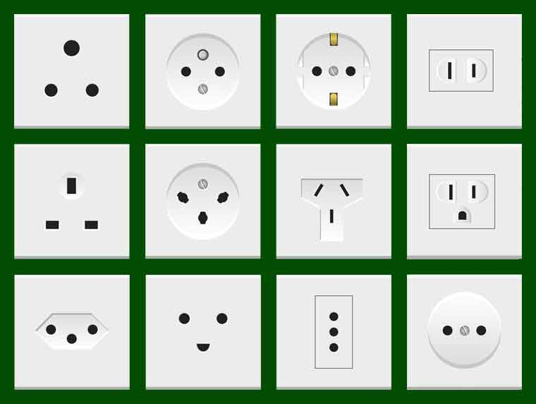 Electric Sockets From Around the World.